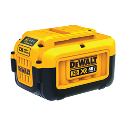 DeWALT® 40V MAX* XR™ DCB407 Premium Battery, 7.5 Ah Lithium-Ion Battery, 40 VAC Charge, For Use With DeWALT® 40 V MAX* Outdoor Power Equipment