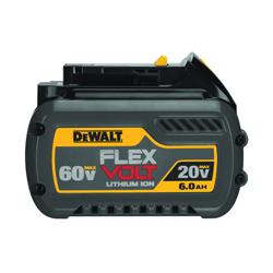 DeWALT® 20V/60V MAX* FLEXVOLT™ DCB606 With Dcb118 Fast Charger, 6 Ah Lithium-Ion Battery, 20/60 VDC Charge, For Use With DeWALT® 20 V/60 V Cordless Tool