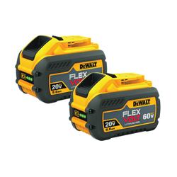 DeWALT® 20V/60V MAX* FLEXVOLT™ DCB609-2 Battery Pack, 9 Ah Lithium-Ion Battery, 20/60 VAC Charge, For Use With DeWALT® 20 V MAX*, 60 V MAX* and 120 V MAX* Tools
