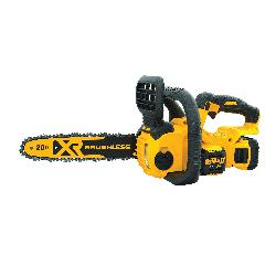 DeWALT® DCCS620P1 XR® Brushless Compact Cordless Chain Saw, 0.043 in Bar/Chain, 12 in L Bar/Chain, 20 V, 5 Ah Lithium-Ion Battery, Bare Tool