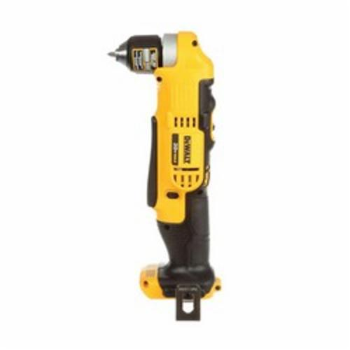 DeWALT® DCD740B Right Angle Drill/Driver, 3/8 in Ratcheting Chuck, 20 VDC, 360 in-lb Torque, 650/2000 rpm No-Load, 4 in OAL, Lithium-Ion Battery, Tool Only