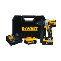 DeWALT® 20V MAX* MATRIX™ XR™ DCD991P2 3-Speed High Performance Premium Cordless Drill/Driver Kit, 1/2 in Chuck, 20 VDC, 0 to 450/0 to 1300/0 to 2000 rpm No-Load, 6-7/8 in OAL, Lithium-Ion Battery