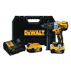 DeWALT® 20V MAX* DCD997P2BT Cordless Hammer Drill Kit, 1/2 in Keyless Chuck, 20 VDC, 0 to 2000 rpm No-Load, Lithium-Ion Battery