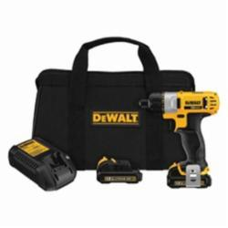 DeWALT® DCF610S2 Lightweight Cordless Screwdriver Kit, 1/4 in Chuck, 160 in-lb, 12 VDC, Lithium-Ion Battery, Plastic Housing