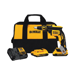 DeWALT® 20V MAX* DCF620D2 Cordless Screwgun Kit, 1/4 in Chuck, 180 in-lb, 20 VDC, Lithium-Ion Battery, Plastic Housing