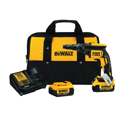 DeWALT® 20V MAX* DCF622M2 XR® Adjustable Torque Cordless Screwgun Kit, 1/4 in Chuck, 20 VDC, Lithium-Ion Battery