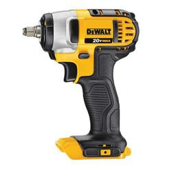 DeWALT® 20V MAX* DCF883B High Performance Cordless Impact Wrench With Hog Ring Anvil, 1/2 in Straight/Square Drive, 2700 bpm, 130 ft-lb Torque, 20 VDC, 5-23/32 in OAL, Tool Only