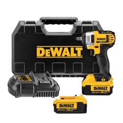 DeWALT® 20V MAX* DCF883M2 Compact Lightweight Cordless Impact Wrench Kit With Hog Ring Anvil, 3/8 in Square Drive, 1560 in-lb Torque, 20 VDC