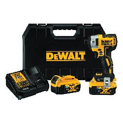 DeWALT® 20V MAX* Tool Connect™ DCF888P2BT XR® Brushless Cordless Impact Driver Kit, 1/4 in Straight Drive, 3800 bpm, 1825 in-lb Torque, 20 VDC, 5.3 in OAL