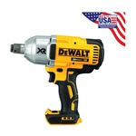 DeWALT® 20V MAX* DCF897B Compact Cordless Impact Wrench Kit, 3/4 in Straight Drive, 700 ft-lb, 20 VDC, 8-3/16 in OAL