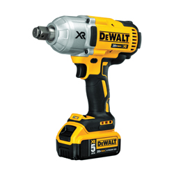 DeWALT® 20V MAX* DCF897P2 Compact Cordless Impact Wrench Kit, 3/4 in Straight Drive, 1200 ft-lb, 20 VDC, 8.81 in OAL