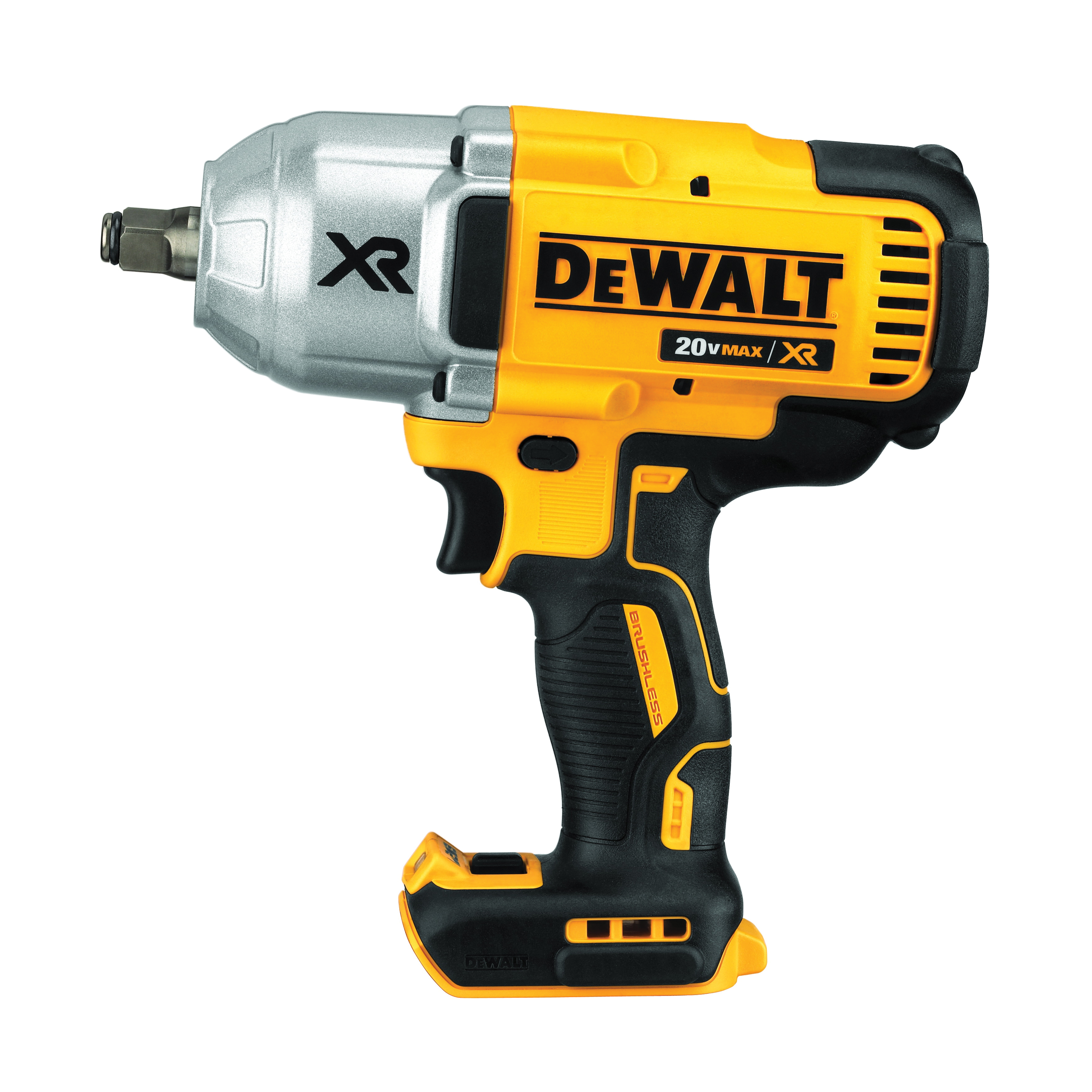 DeWALT® 20V MAX* MATRIX™ XR™ DCF899HB Compact Cordless Impact Wrench, 1/2 in Straight Drive, 700 ft-lb Torque, 20 VDC, 8-13/16 in OAL, Tool Only