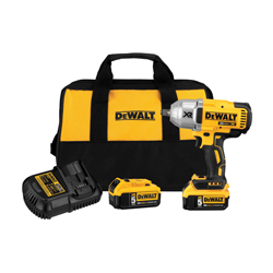 DeWALT® 20V MAX* MATRIX™ XR™ DCF899HP2 Compact Cordless Impact Wrench Kit, 1/2 in Straight Drive, 700 ft-lb Torque, 20 VDC, 8-13/16 in OAL