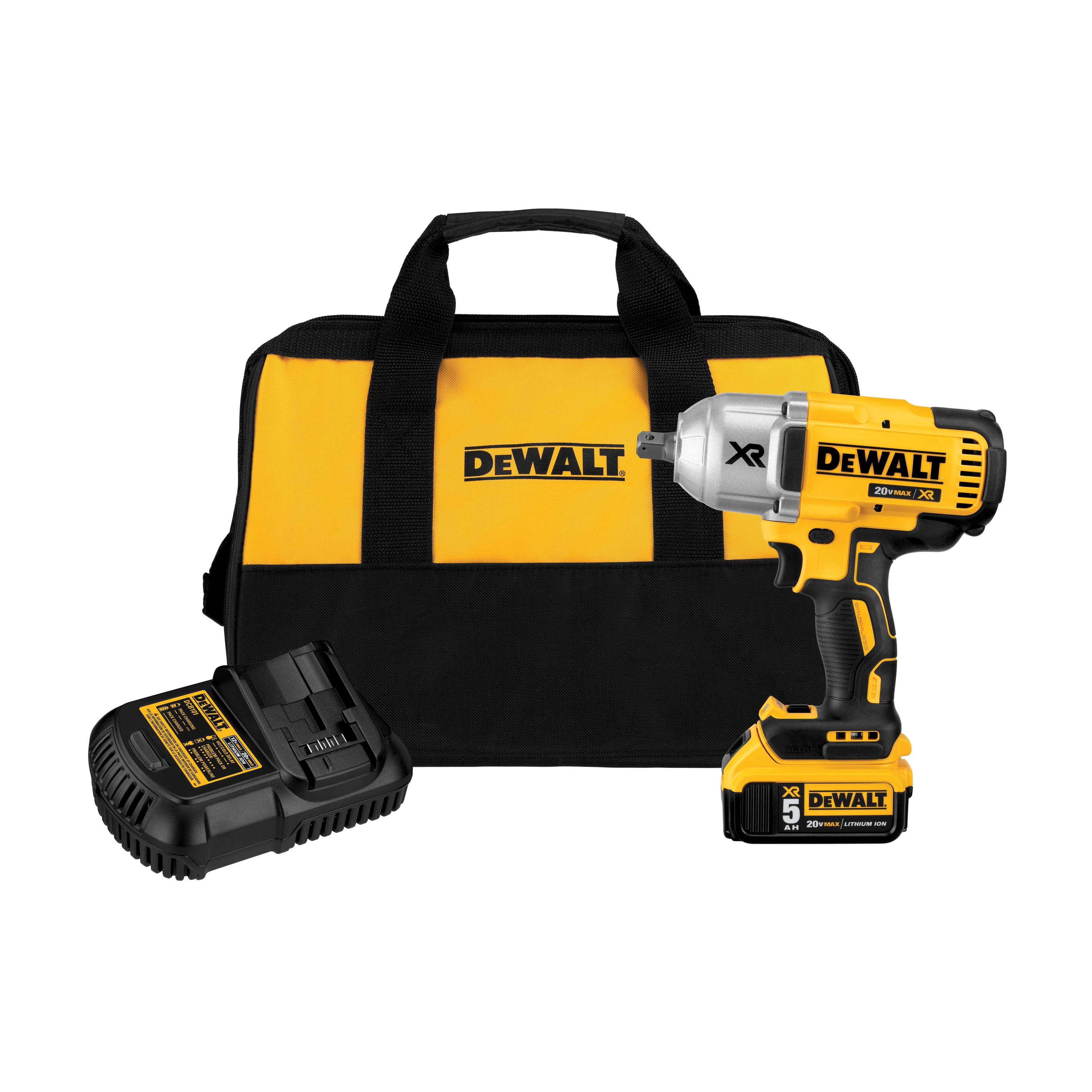 DeWALT® 20V MAX* MATRIX™ XR™ DCF899P1 Compact Cordless Impact Wrench Kit, 1/2 in Straight Drive, 700 ft-lb Torque, 20 VDC, 8-13/16 in OAL
