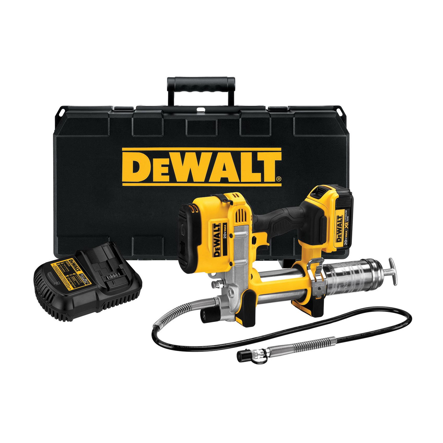 DeWALT® DCGG571M1 Li-Ion Cordless Grease Gun, 14.5 oz Cartridge