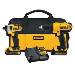 DeWALT® 20V MAX* MATRIX™ DCK240C2 2-Tool Cordless Combination Kit, Tools: Drill Driver, Impact Driver, 20 V, 1.3 Ah Lithium-Ion