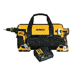 DeWALT® 20V MAX* DCK267D2 2-Tool Cordless Combination Kit, Tools: Drywall Screwgun, Impact Driver, 20 VDC, 2 Ah Lithium-Ion