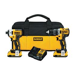 DeWALT® 20V MAX* DCK283D2 XR™ 2-Tool Compact Cordless Combination Kit, Tools: Drill, Impact Driver, 20 V, 2 Ah Lithium-Ion
