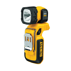 DeWALT® 20V MAX* DCL044 Fixed Focus Handheld Portable Rechargeable Cordless Worklight, LED, 20 V, Lithium-Ion Battery