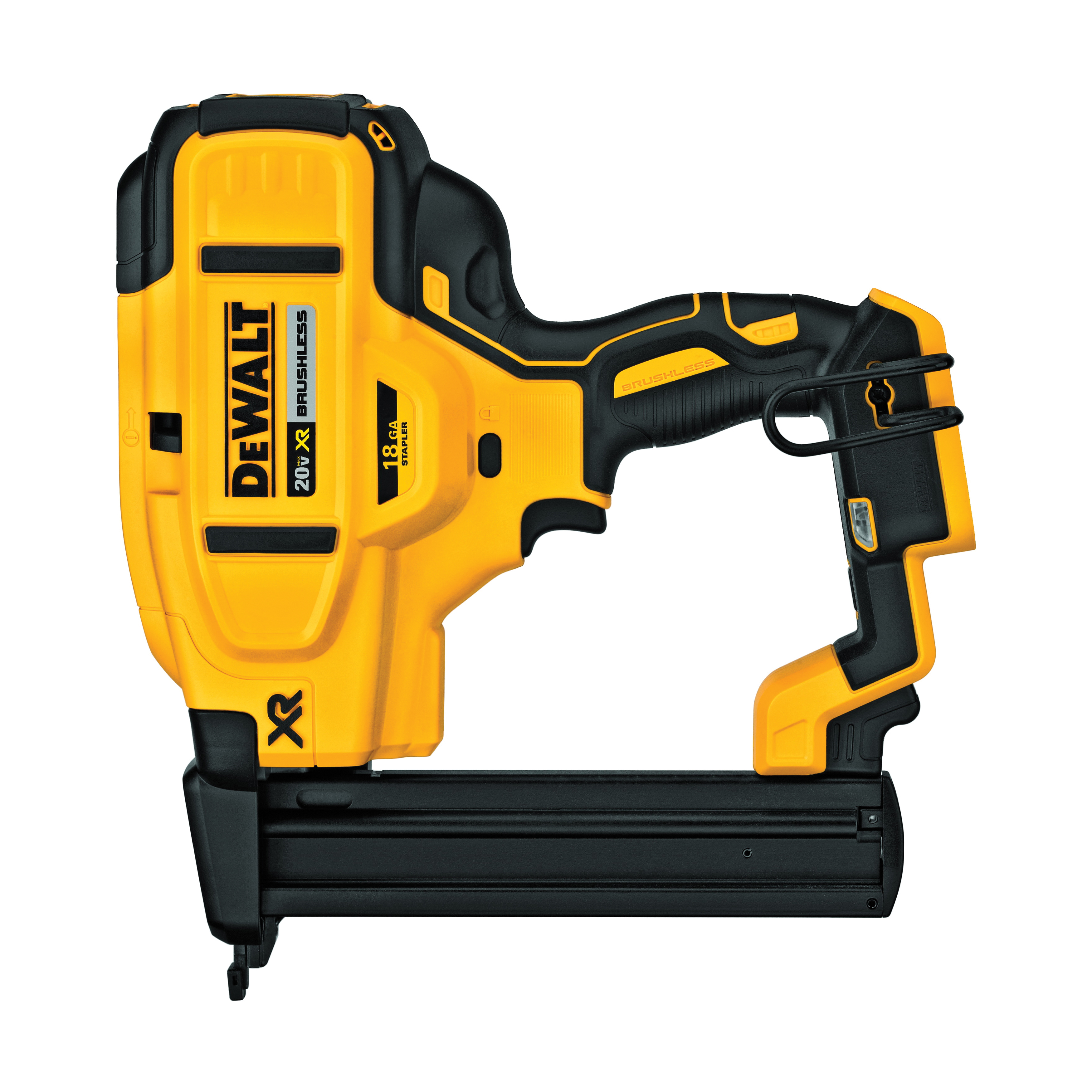 DeWALT® 20V MAX* DCN681B XR™ Cordless Narrow Crown Stapler, 1/4 in Crown, 10.1 in OAL, Lithium-Ion Battery