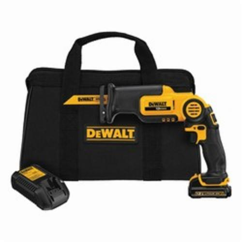 DeWALT® DCS310S1 High Performance Cordless Reciprocating Saw Kit With Electric Brake, 9/16 in L Stroke, 0 to 2700 spm, Orbital Cut, 12 VDC