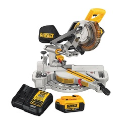 DeWALT® DCS361M1 Cordless Miter Saw Kit, 7-1/4 in Blade, 5/8 in Arbor/Shank, 3-5/8 in Vertical Nested Crown, 3-1/2 in Vertical Base Cutting
