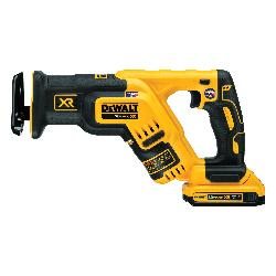 DeWALT® 12V MAX* DCS367D1 XR® Brushless Compact Cordless Reciprocating Saw Kit, 1-1/8 in L Stroke, 2900 spm, Straight Cut, 20 VDC, 14-1/2 in OAL