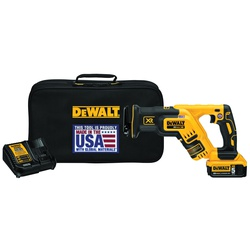 DeWALT® 20V MAX* DCS367P1 XR™ Brushless Cordless Reciprocating Saw Kit, 1-1/8 in L Stroke, 0 to 2900 spm, Straight Cut, 20 V, 14-1/2 in OAL