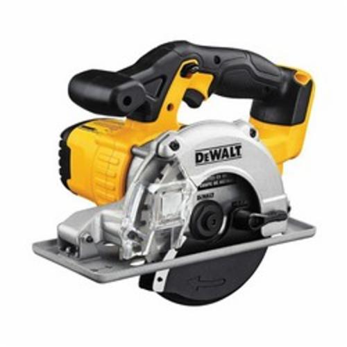 DeWALT® DCS373B Cordless Circular Saw, 5-1/2 in Dia Blade, 20 mm Arbor/Shank, 20 VDC, 1-11/16 in at 90 deg D Cutting, Lithium-Ion Battery, Left Blade Side, Bare Tool