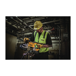 DeWALT® 20V MAX* DCS374P2 XR® Brushless Deep Cut Portable Cordless Band Saw Kit, 5 x 4-3/4 in Cutting, 44-7/8 in L Blade, 20 VDC, 5 Ah Lithium-Ion Battery