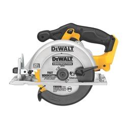 DeWALT® DCS391B Cordless Circular Saw, 6-1/2 in Dia Blade, 5/8 in Arbor/Shank, 20 VDC, 1-5/8 in at 45 deg, 2-1/4 in at 90 deg D Cutting, Lithium-Ion Battery, Left Blade Side