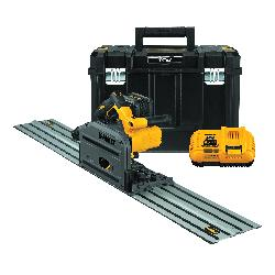 DeWALT® 60V MAX* FLEXVOLT® DCS520ST1 Cordless Track Saw, 6-1/2 in Blade, 1750 to 4000 rpm Speed, 60 VDC, Lithium-Ion Battery, 6 Ah Battery
