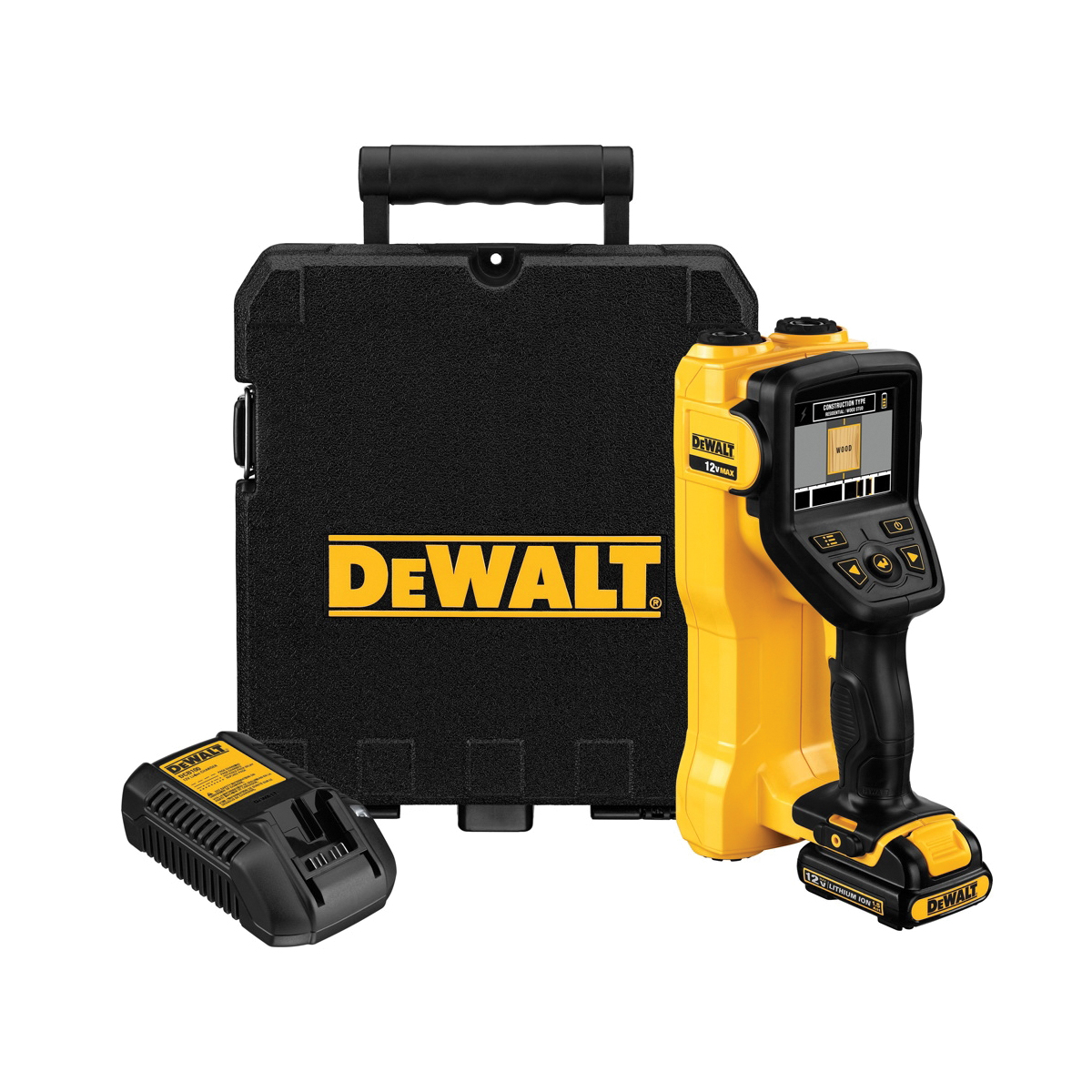 DeWALT® DCT419S1 Handheld Handheld Wall Scanner, 3 in, 3-1/2 in Color LCD Display