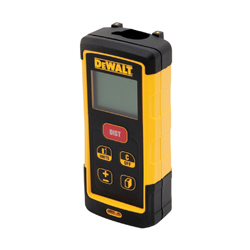 DeWALT® DW03050 Laser Distance Meter, +/-1/16 in, (2) AAA Batteries, LCD Display, Black/Yellow