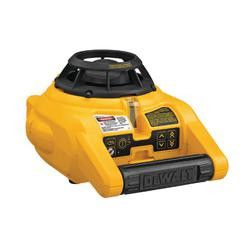 DeWALT® DW074KD Interior/Exterior Self-Leveling Rotary Laser Kit, 100 ft Measuring, 1/4 in Accuracy, D Alkaline Battery