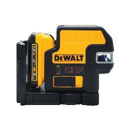 DeWALT® 12V MAX* DW0822LR 2-Spot Cordless Cross Line Laser Kit, 165 ft Measuring, +/-1/8 in at 100 ft Accuracy, 12 VDC, AA Battery, Plastic Housing