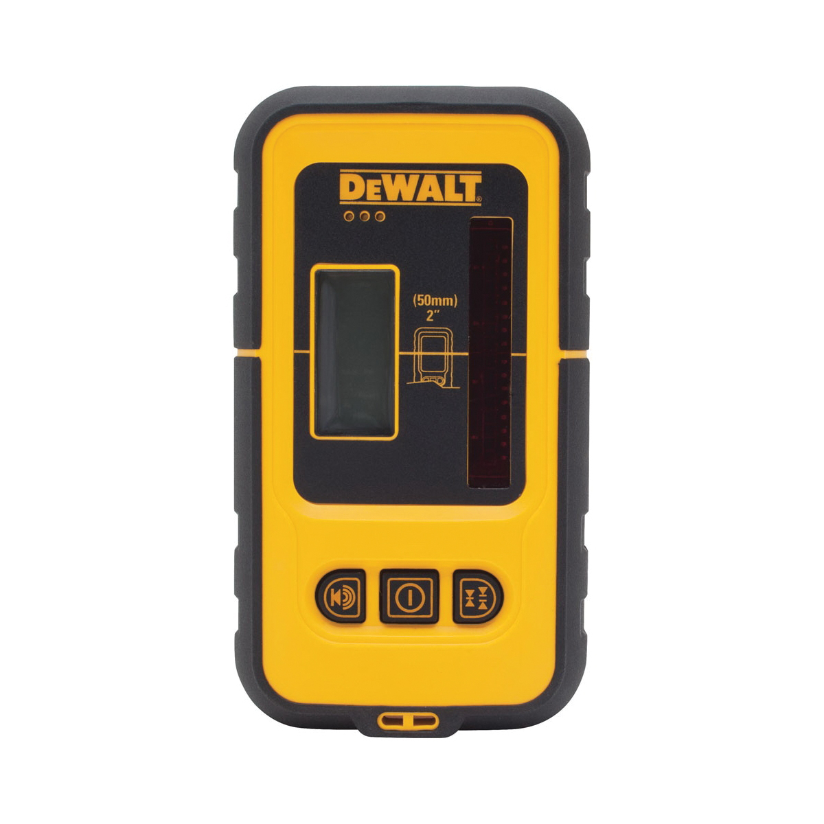 DeWALT® Guaranteed Tough® DW0892G Impact Resistant Line Laser Detector, 165 ft Working Range, (2) AA Batteries, +/-1/32 in Tolerance, For Use With DW088K, DW089K, DW0811, DW0822, DW0851 Self-Levelling Spot Beam and Horizontal Line, Plastic