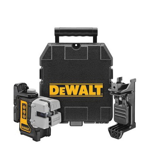 DeWALT® DW089K Electronic Self-Leveling Rotary Laser Level Kit, 50 ft with Detector/166 ft without Detector Measuring, +/-1/8 in at 30 ft Accuracy, 4 AA Alkaline Battery