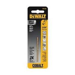 Black+Decker® DW1206 Pilot Point Drill Bit, 3/32 in Drill - Fraction, 0.0938 in Drill - Decimal Inch, 1-1/4 in L Flute, Cobalt