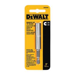 DeWALT® DW2045 Magnetic Bit Tip Holder With Hog Ring, 1/4 in Drive, Steel, 1/4 in Hex