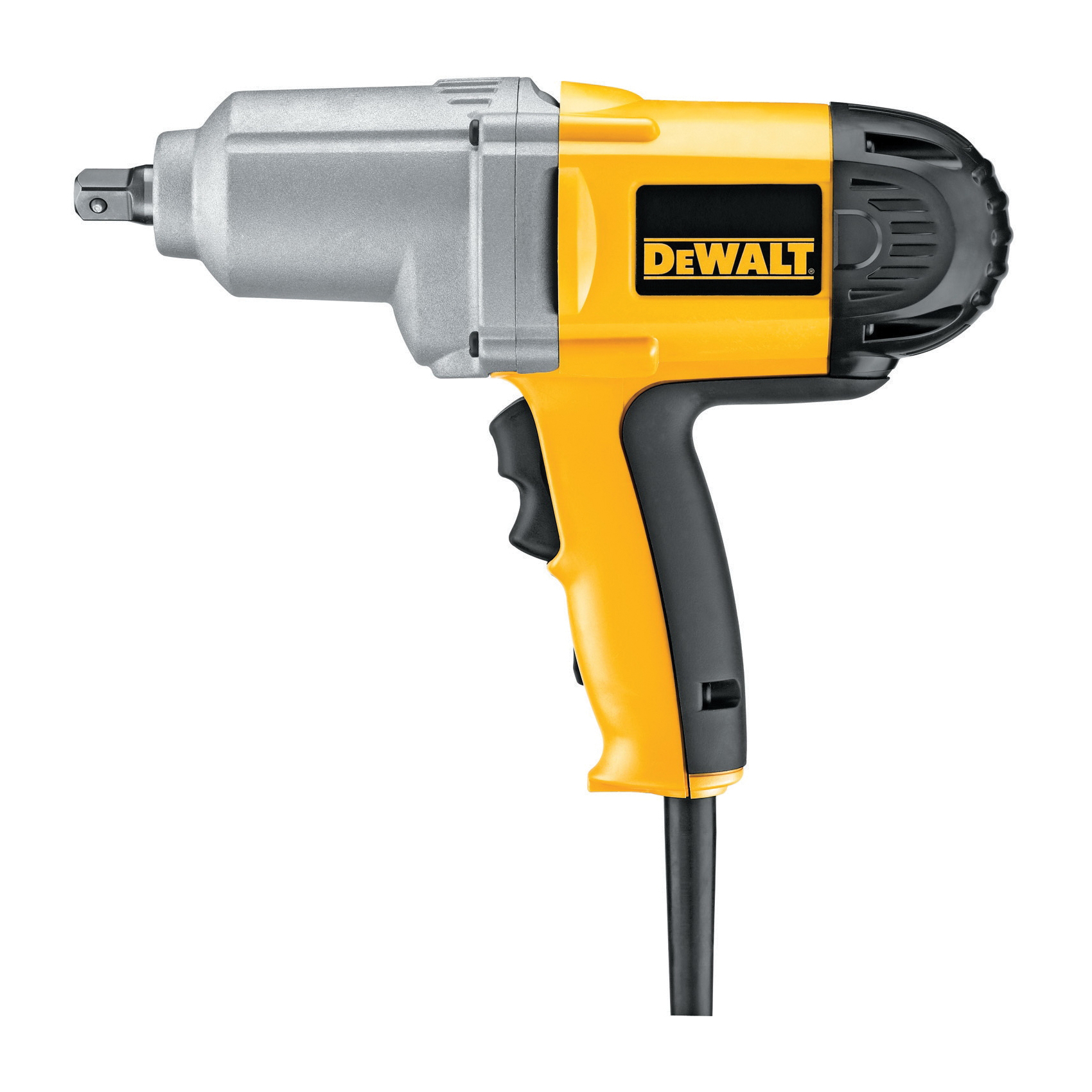 DeWALT® DW292 Corded Impact Wrench With Detent Pin Anvil, 1/2 in Straight Drive, 2700 bpm, 345 ft-lb Torque, 120 VAC, 11-1/4 in OAL