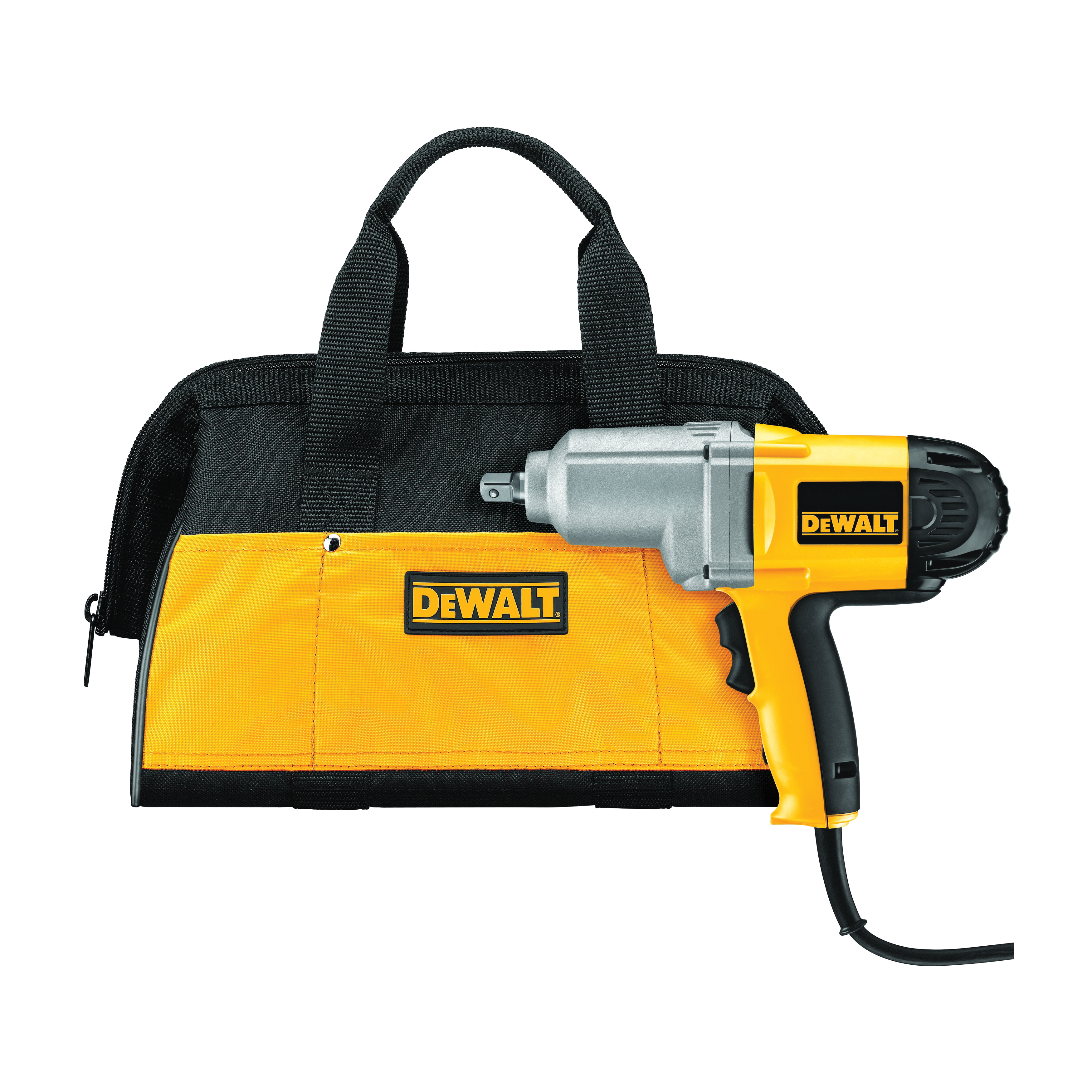 DeWALT® DW292K Corded Impact Wrench Kit With Detent Pin Anvil, 1/2 in Straight Drive, 2700 bpm, 345 ft-lb Torque, 120 VAC, 11-1/4 in OAL