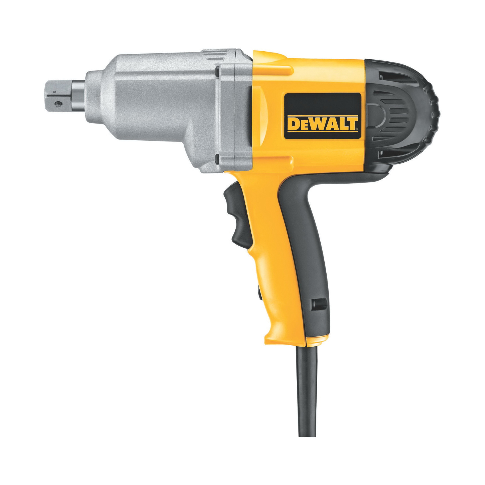 DeWALT® DW294 Corded Impact Wrench With Detent Pin Anvil, 3/4 in Straight Drive, 2700 bpm, 345 ft-lb Torque, 120 VAC, 11-1/4 in OAL