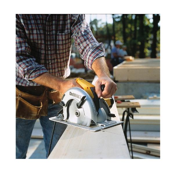 DeWALT® DW364 Circular Saw, 7-1/4 in Dia Blade, 5/8 in Arbor/Shank, 1-7/8 in at 45 deg, 2-7/16 in at 90 deg Cutting, Right Blade Side