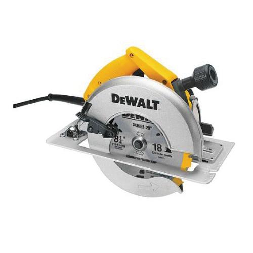 Black+Decker® DW384 Heavy Duty Circular Saw, 8-1/4 in Dia Blade, 5/8 in Arbor/Shank, 2-15/16 in at 90 deg, 2-1/4 in at 45 deg Cutting, Right Blade Side