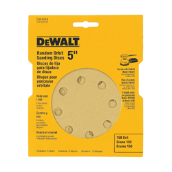 DeWALT® DW4309 Hook and Loop Disc, 5 in Dia, 80 Grit, Medium Grade, Aluminum Oxide Abrasive, Paper Backing