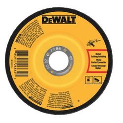 DeWALT® DW4542 Depressed Center Wheel, 4-1/2 in Dia x 1/4 in THK, A24N Grit, Aluminum Oxide Abrasive