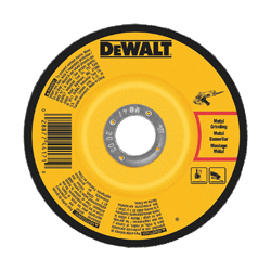 DeWALT® DW4544 Depressed Center Wheel, 5 in Dia x 1/4 in THK, A24N Grit, Aluminum Oxide Abrasive