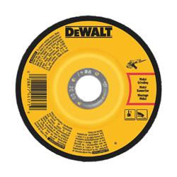 DeWALT® DW4545 Depressed Center Wheel, 6 in Dia x 1/4 in THK, 7/8 in Center Hole, A24N Grit, Aluminum Oxide Abrasive