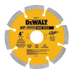 DeWALT® DW4711 Extended Performance Extended Performance Segmented Diamond Blade, 1 in D Cutting, 5/8, 7/8 in Arbor/Shank, Dry Cutting